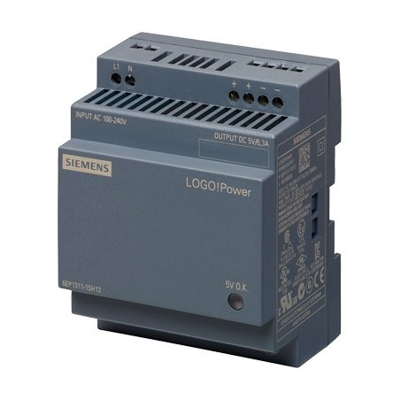 Siemens 6EP1311-1SH13 LOGO!POWER 5 V/6.3 A STABILIZED POWER SUPPLY
