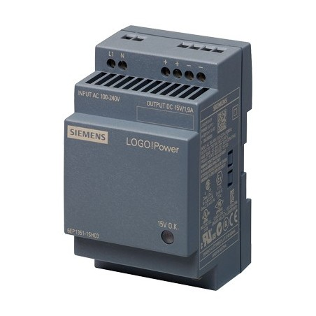 Siemens 6EP1351-1SH03 LOGO!POWER 15 V/1.9 A STABILIZED POWER SUPPLY