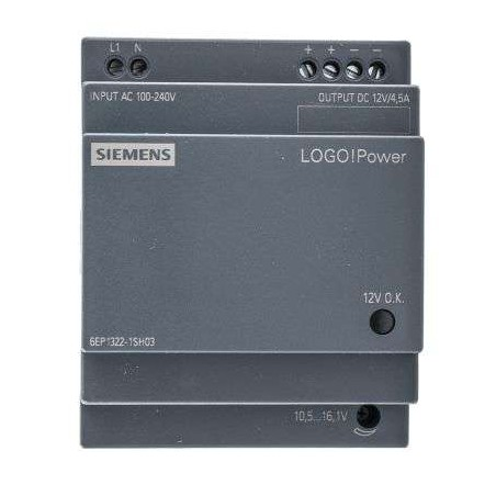6EP1322-1SH03 SIEMENS LOGO!POWER 12 V/4.5 A STABILIZED POWER SUPPLY